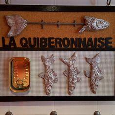 """Cadre déco sur le thème """"sardines la quiberonnaise"""""""