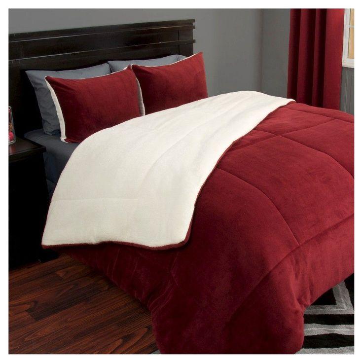 Sherpa Fleece Comforter Set (