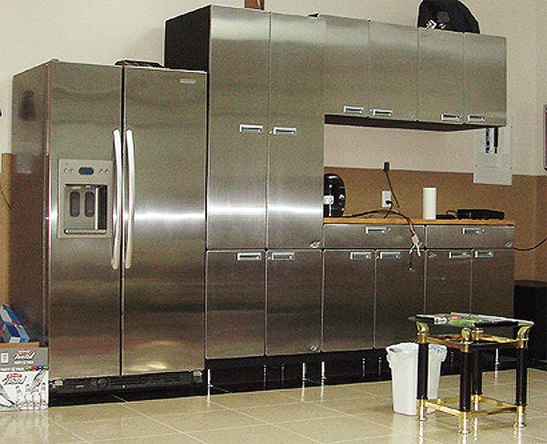 Perfect 7.5 Foot Stainless Steel Cabinets, Workstation, And Locker