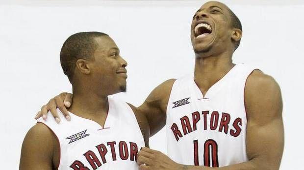 Toronto Raptors Kyle Lowry & DeMar DeRozen