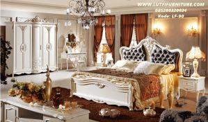 Set Kamar Tidur Mewah Duco Ukir Gold