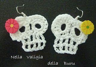 Orecchini teschio uncinetto Halloween Tutorial in italiano