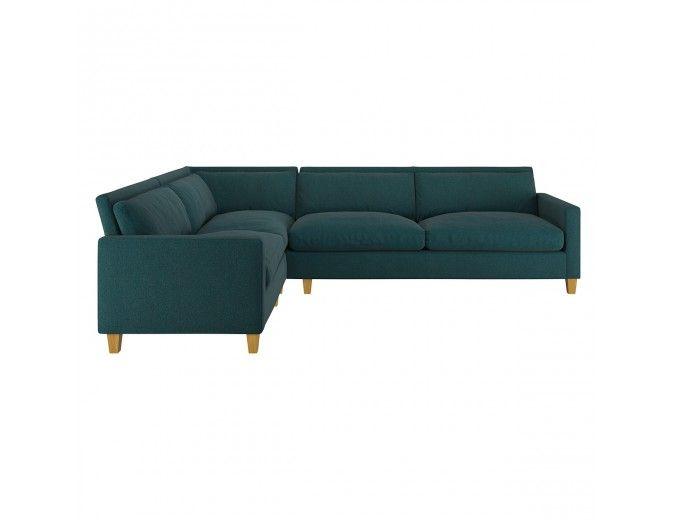 Chester Teal Herringbone Wool Mix Right Arm Corner Sofa In 2019 Corner Sofa Comfortable Couch Buy Sofa