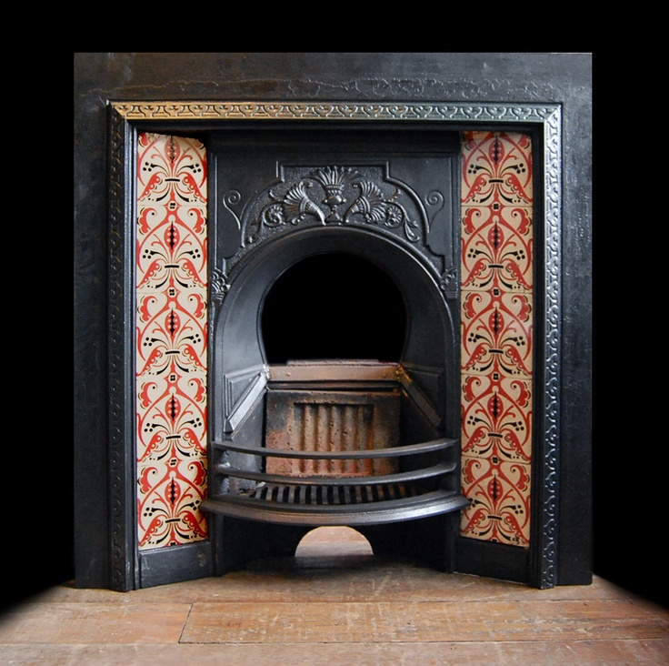 A Late Victorian Tiled Fireplace Insert. At DeStefano