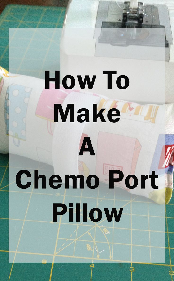 Make a chemo port pillow from fabric scraps! They are not only a nice gift for people going through chemo, but also something to donate to a local hospital.Glenda Whitaker