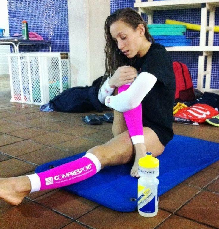 Jessica Vall, nadadora patrocinada por Recuperat-ion. Buen ejemplo de una deportista profesional moderna, con background, cabeza y respeto por sus patrocinadores.