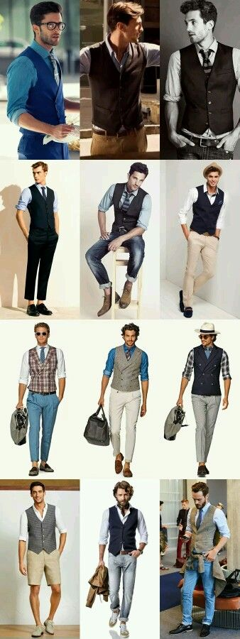 Moda  Keep the vest the same color or value as the pants.