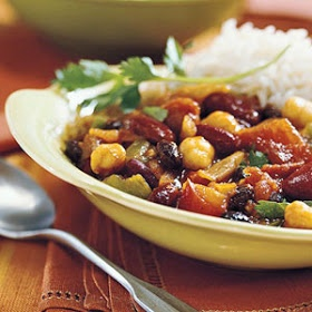 Slow Cooker 3 Bean Meatless Chili Recipe Daniel Fast......use veggie broth instead of chicken broth