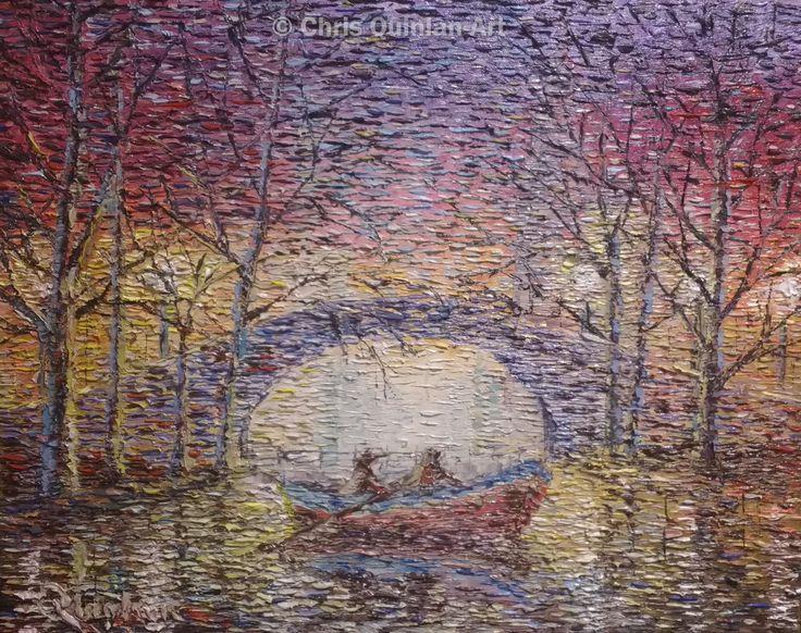 "Impressionist landscape oil painting by Chris Quinlan - 20"" x 16""oil painting on canvas. by Chris Quinlan Art"