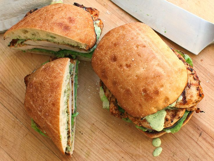 Peruvian-Style Grilled Chicken Sandwiches With Spicy Green Sauce Recipe | Serious Eats