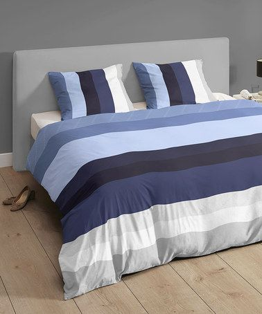 Take a look at this Blue Stripe Kingsize Duvet Set by Descanso on #zulily today! http://www.zulily.co.uk/invite/akennington3