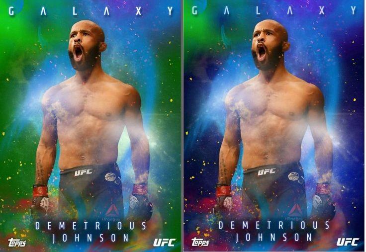 Topps UFC Knockout 16 Galaxy Series 2 Demetrious Johnson Blue Green 2X Digital