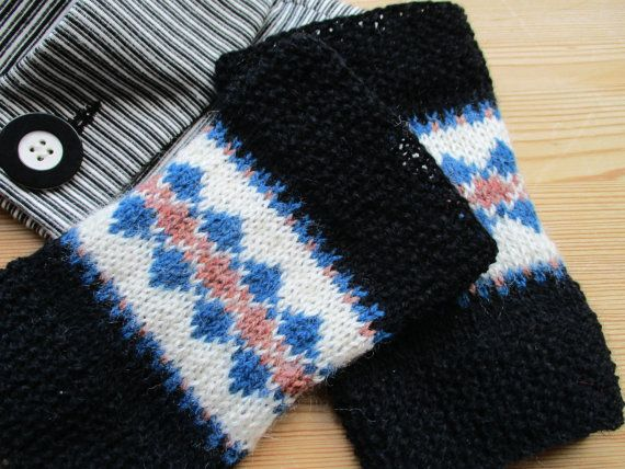 Wrist  Warmers   fair  isle    knitted   by WilverlyWoollens