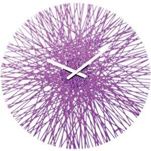 Nástěnné hodiny Silk, fialové