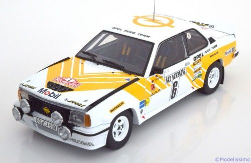 Opel Ascona 400 1981, Rally Monte Carlo, No.6, Kleint/Wanger. Sunstar, 1/18, No.5366, Limited Edition 799 pcs. 65€