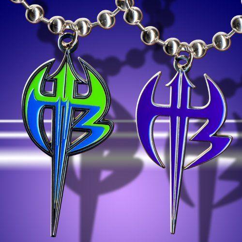 WWE Jeff Hardy Deal Set of 2 Different Logo Pendants WWE
