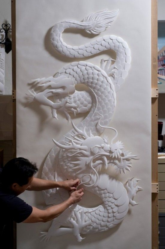 Animated and alive paper sculptures by Jeff Nishinaka