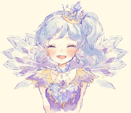 Kiriya+aoi | Kiriya Aoi - art, happiness, lovely, pretty, blue hair, purple, long ...