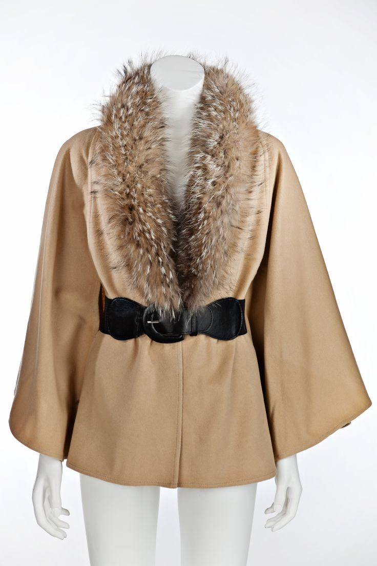Raccoon cape, also available in black