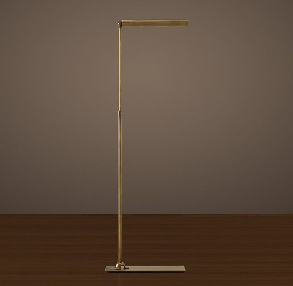 Floor Lamps for reading for each side of the sofa. They come in other metals/finishes. From Restoration Hardware - $309