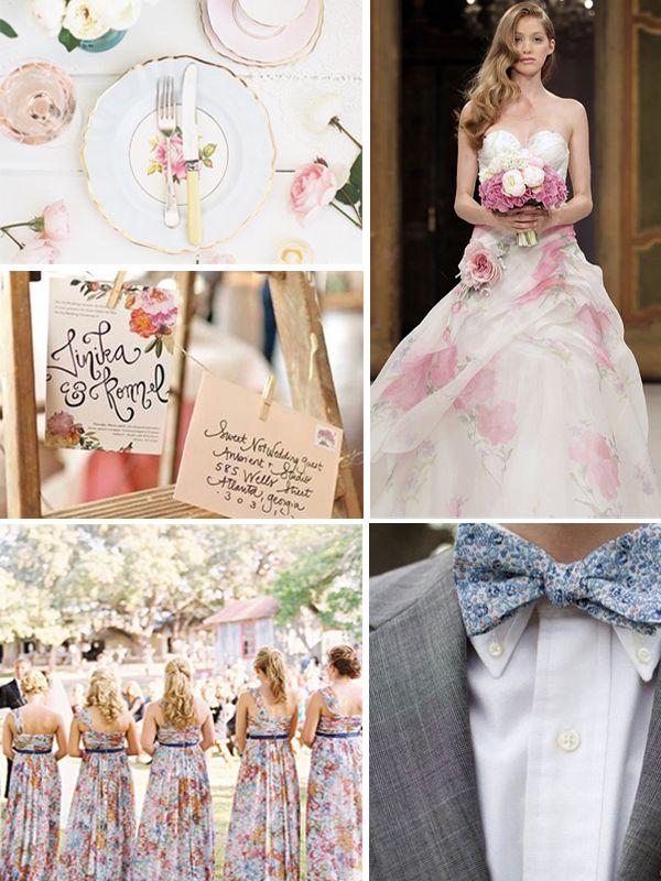 floral-print-wedding
