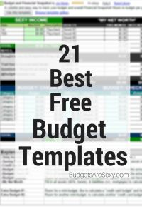 21 of the Best Free Budget Templates