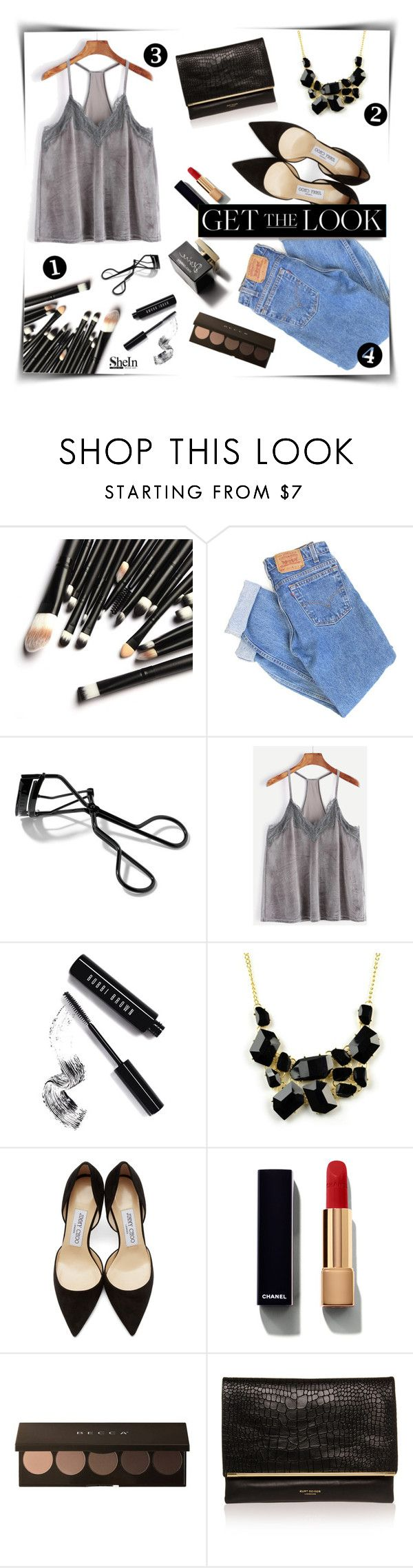 """For all my single ladies :)"" by magi-418 ❤ liked on Polyvore featuring Levi's, Bobbi Brown Cosmetics, D&G, Emi Jewellery, Jimmy Choo, Chanel, White Label and Kurt Geiger"