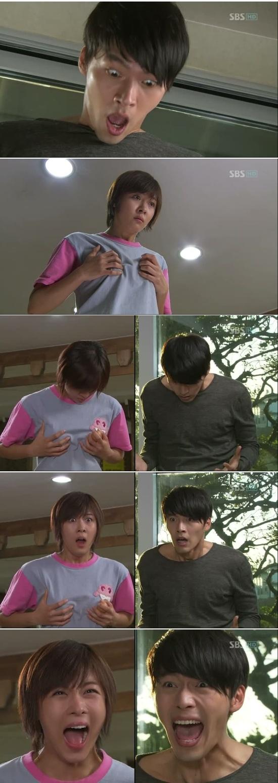 Kim Joo Won y Gil Ra Im se dan cuenta que cambiaron de cuerpo - Secret Garden, Episodio 5