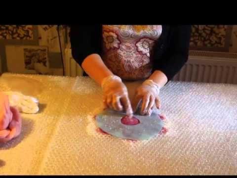 Валяние для начинающих Брошь цветок ч 1 - Раскладка - YouTube
