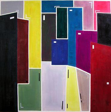 "Saatchi Art Artist Luis Medina; Painting, ""Estructura urbana  -SOLD-"" #art"