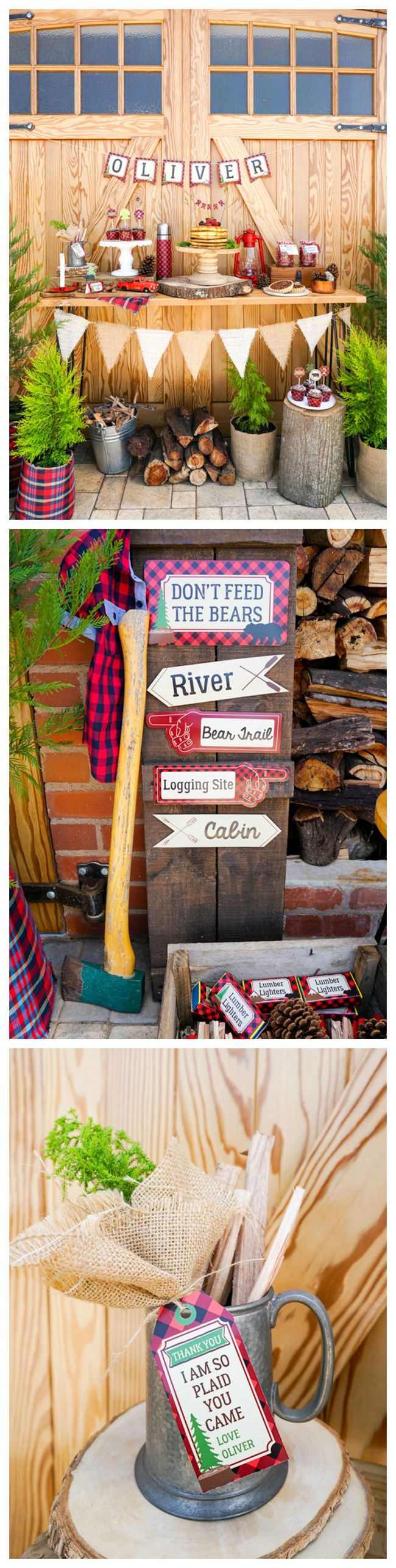 Lumberjack Themed Birthday Party Ideas