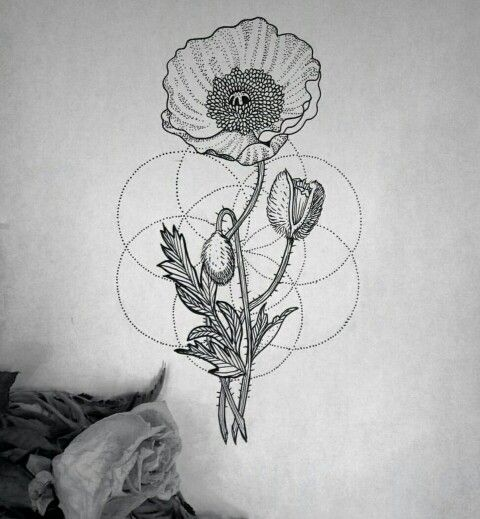 Poppy Geometric tattoo