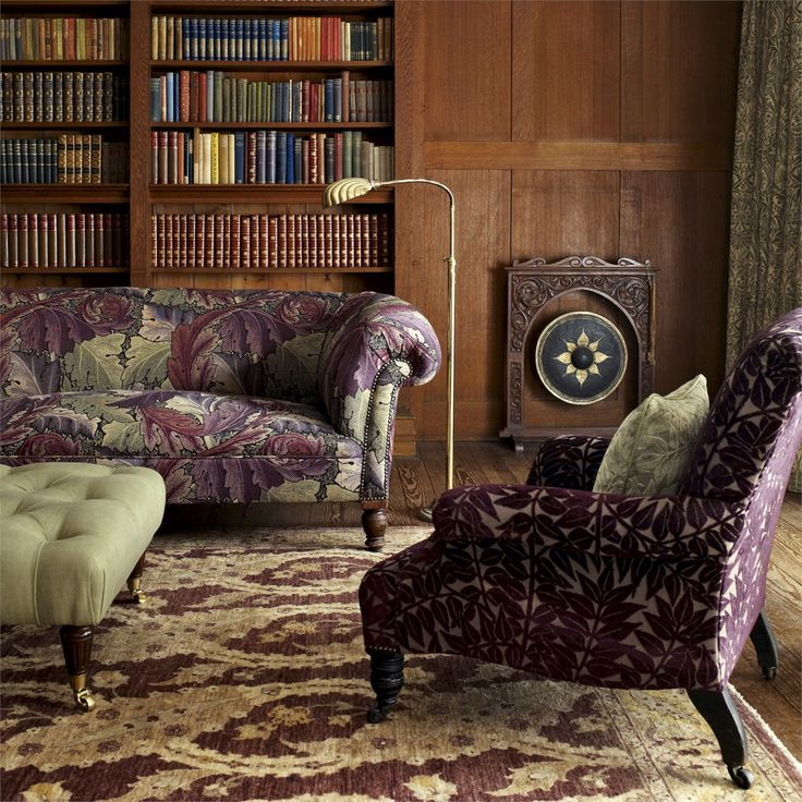 Acanthus Fabric from the Archive Weaves Collection from Morris & Co - now available at British Wallpapers