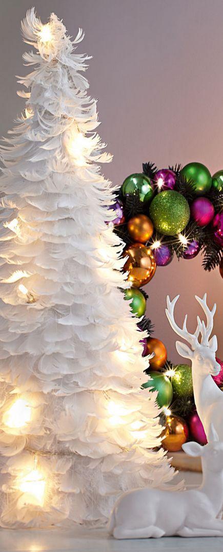 158 besten christmas weisse tannenb ume white christmas tree bilder auf pinterest. Black Bedroom Furniture Sets. Home Design Ideas