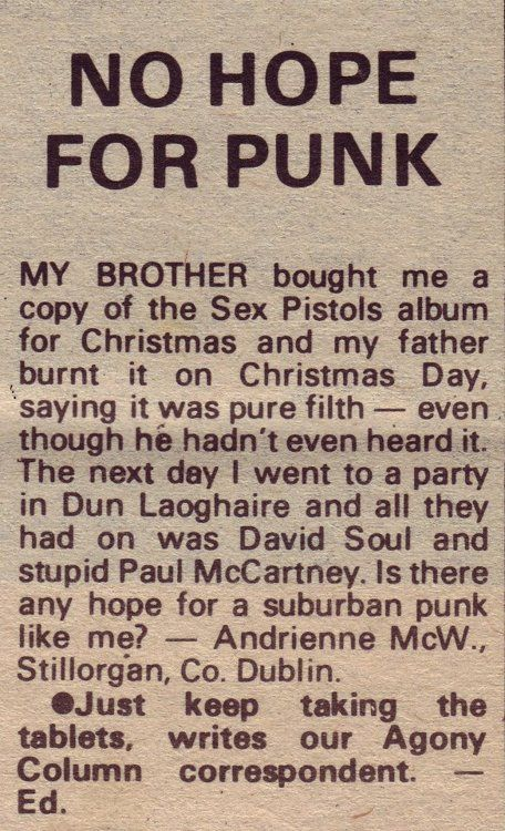 no hope for punk