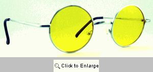 Small Round Metal Spectacles Sunglasses - 408 Yellow