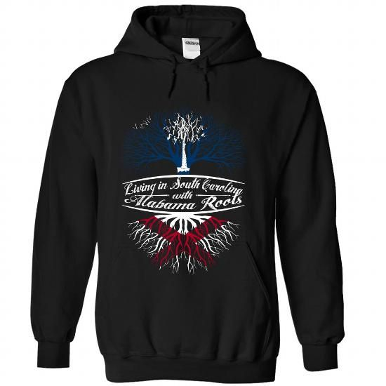 Cool Living in South Carolina with Alabama root-iqznwvevbw T shirts