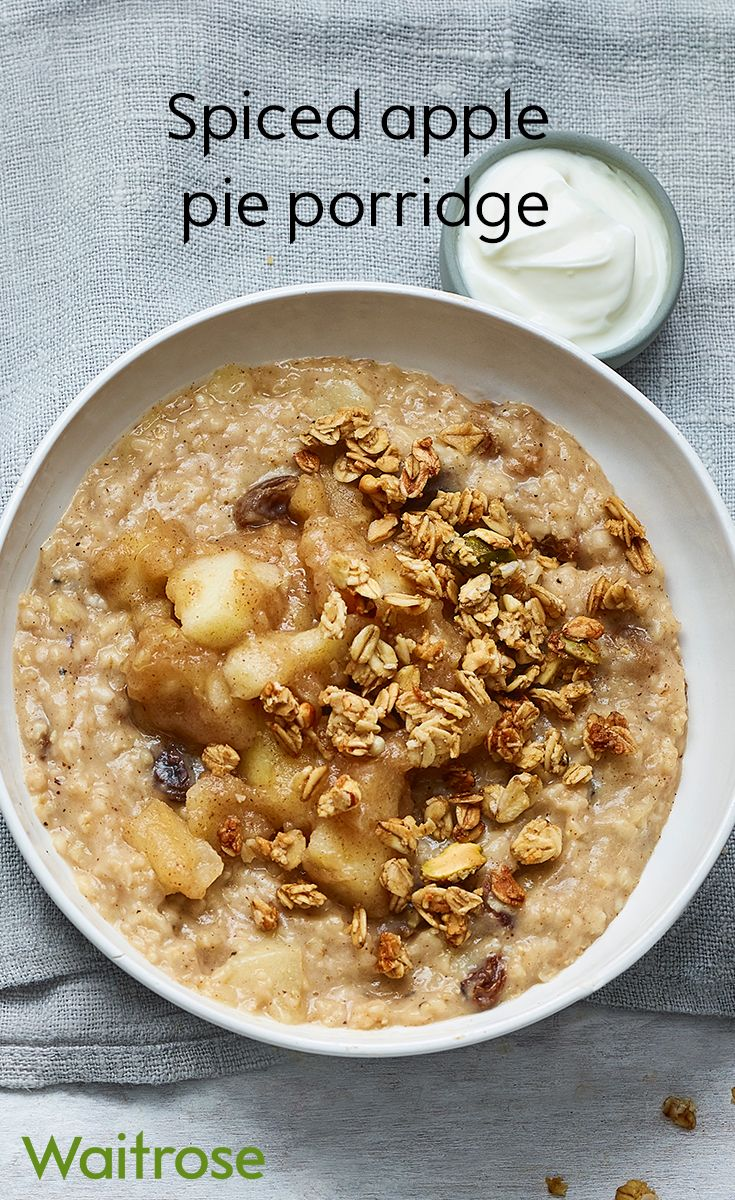 Add a little sweetness to your morning porridge with spiced stewed apples – they're delicious! Finish with a handful of granola and a spoonful of yogurt. Check out the recipe on the Waitrose website.