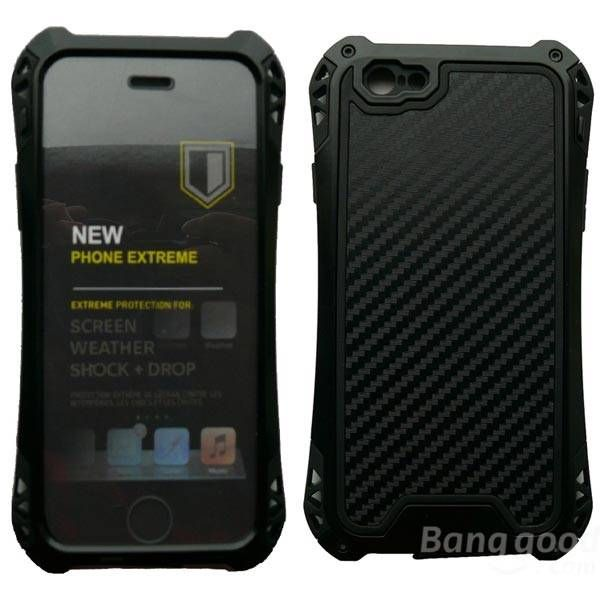 Waterproof  Shockproof Carbon fiber Metal Case Cover For iPhone 6…