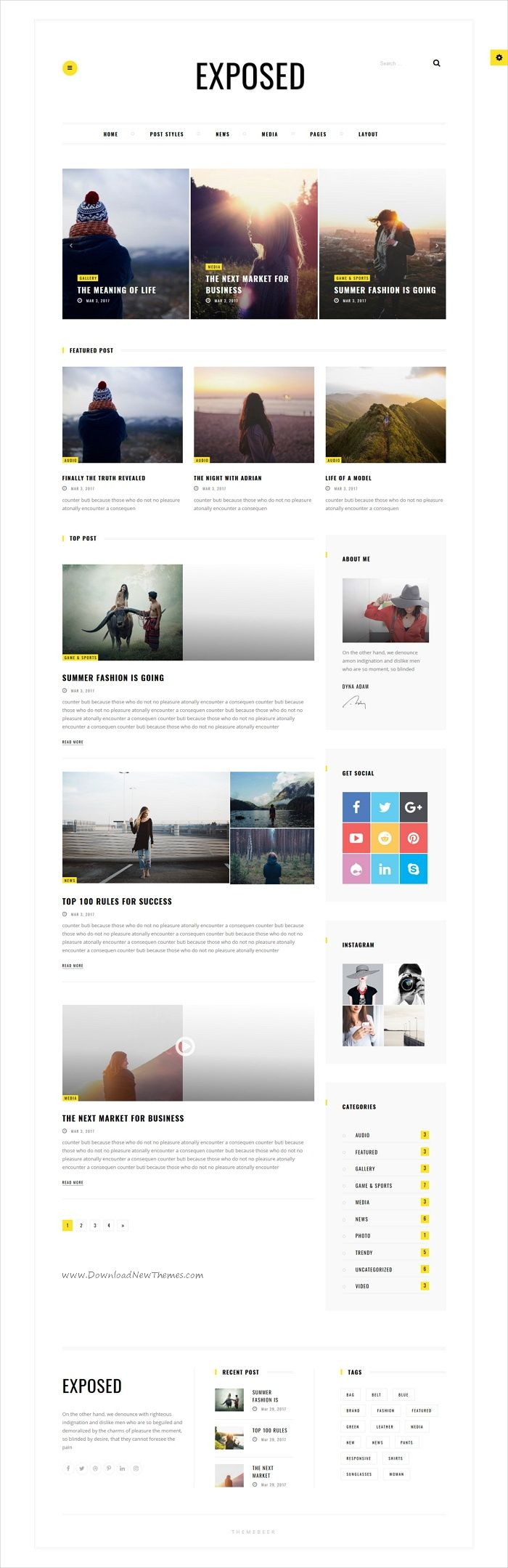 Exposed is clean and modern design 2in1 responsive #WordPress theme for #newspaper, magazine and #blogs website download now > https://themeforest.net/item/exposed-news-magazine-and-blog/19815465?ref=Datasata