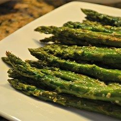 Oven-Roasted Asparagus - Allrecipes.com - leave out the parmesan cheese to be Whole30-compliant