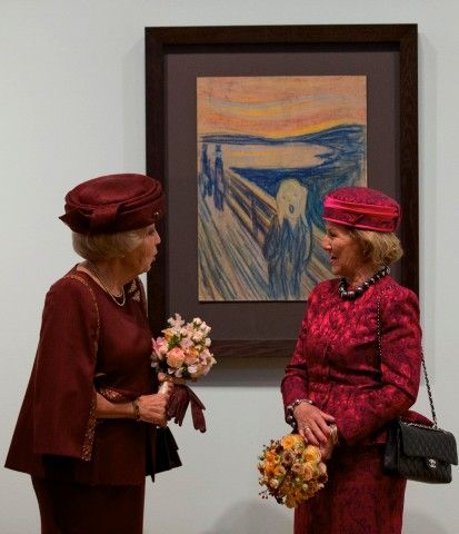 Princess Beatrix and Queen Sonja of Norway open exhibition 'Munch: Van Gogh' at the Van Gogh Museum in Amsterdam on September 23, 2015