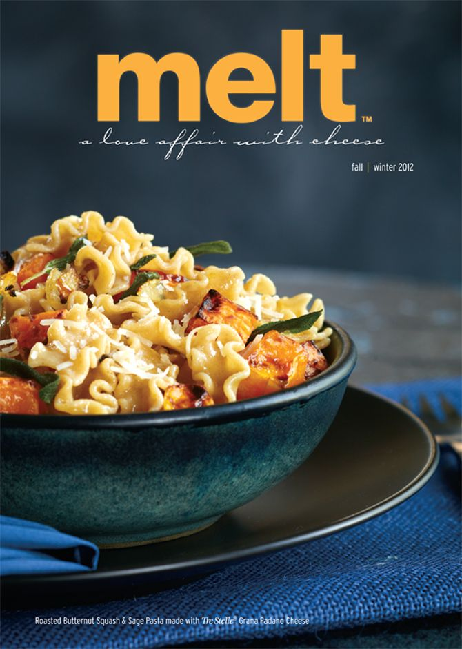 Food Photography of Roasted Butternut Squash, Sage and Grana Padano Pasta for Tre Stelle Fall/Winter 2012 issue of Melt Magazine [BP imaging - Bochsler Photo Imaging]
