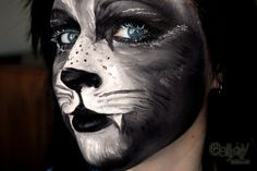 black cat face painting - Google Search