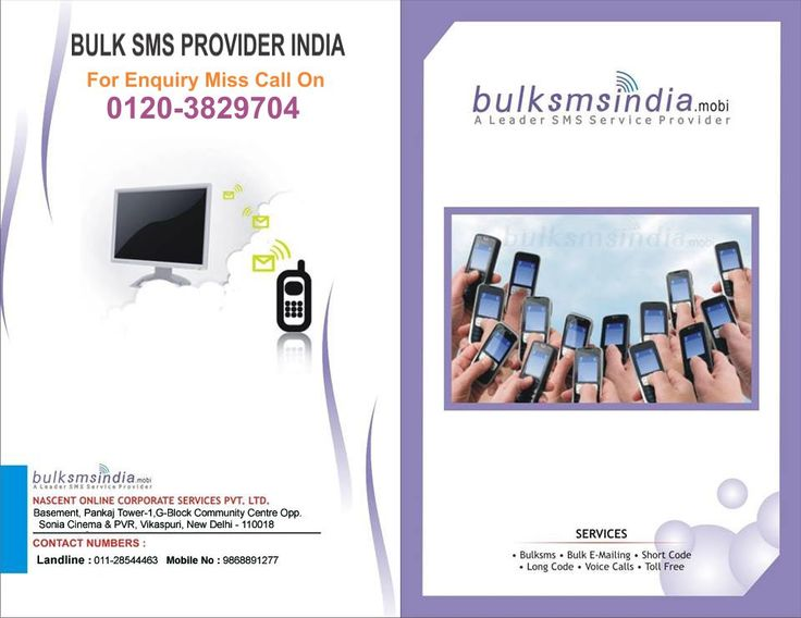 Bulksmsindia.mobi offer business promotional service in all  india .We are promote your business with bulk sms service in delhincr, hyderabad,  kolkata ,chennai ..more |For Enquiry Miss Call On 0120-3829704
