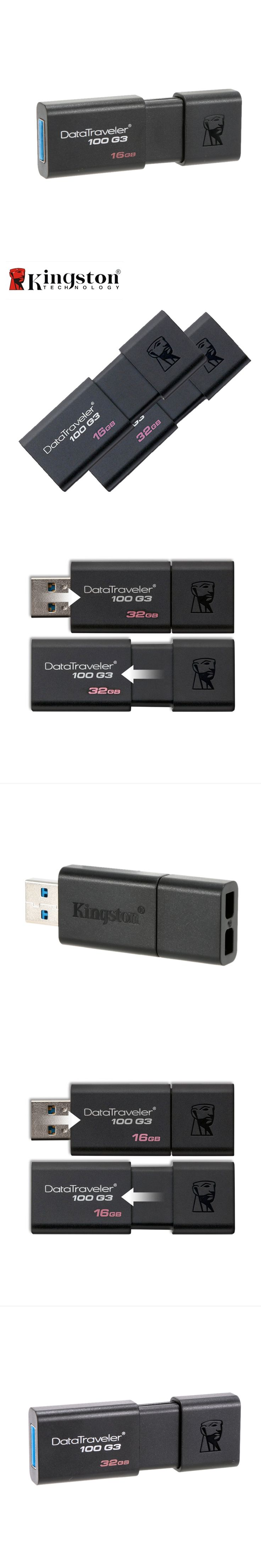 Kingston DT100G3 USB Flash Drive 32GB 16GB Pen Drive Pendrive 64 GB 128 GB Memoria USB Memory Stick Flash USB 3.0