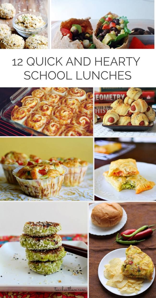 12 Quick and Hearty School Lunches