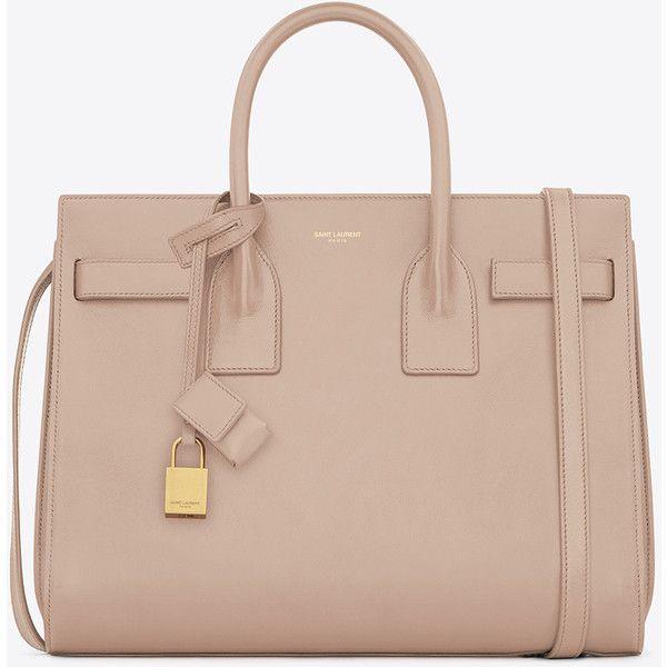 Saint Laurent Classic Small Sac De Jour Bag In Pale Blush Leather ($2,750) via Polyvore