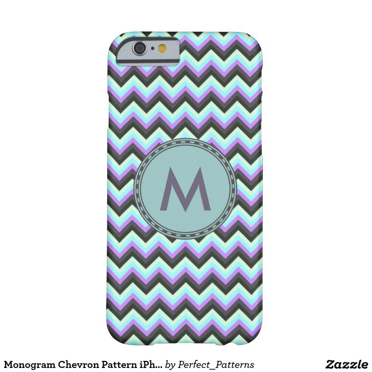 I Love the colors on this. Monogram Chevron Pattern iPhone 6 Barely There case