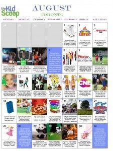 Toronto Kids Activities in August!